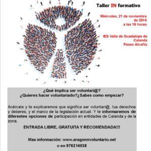Talleres informativos básicos de voluntariado en Zaragoza y Calanda
