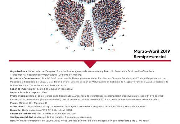 Nueva edición del curso universitario Avanza con el voluntariado