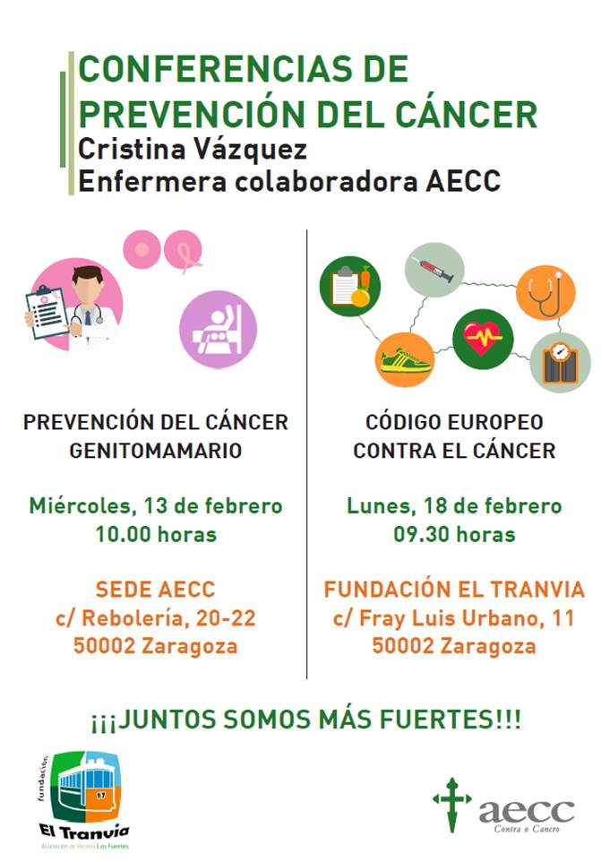 La Fundación El Tranvía colabora con aecc con dos ponencias sobre cáncer