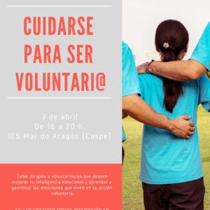 "Taller ""Cuidarse para ser voluntario/a"" en Caspe"