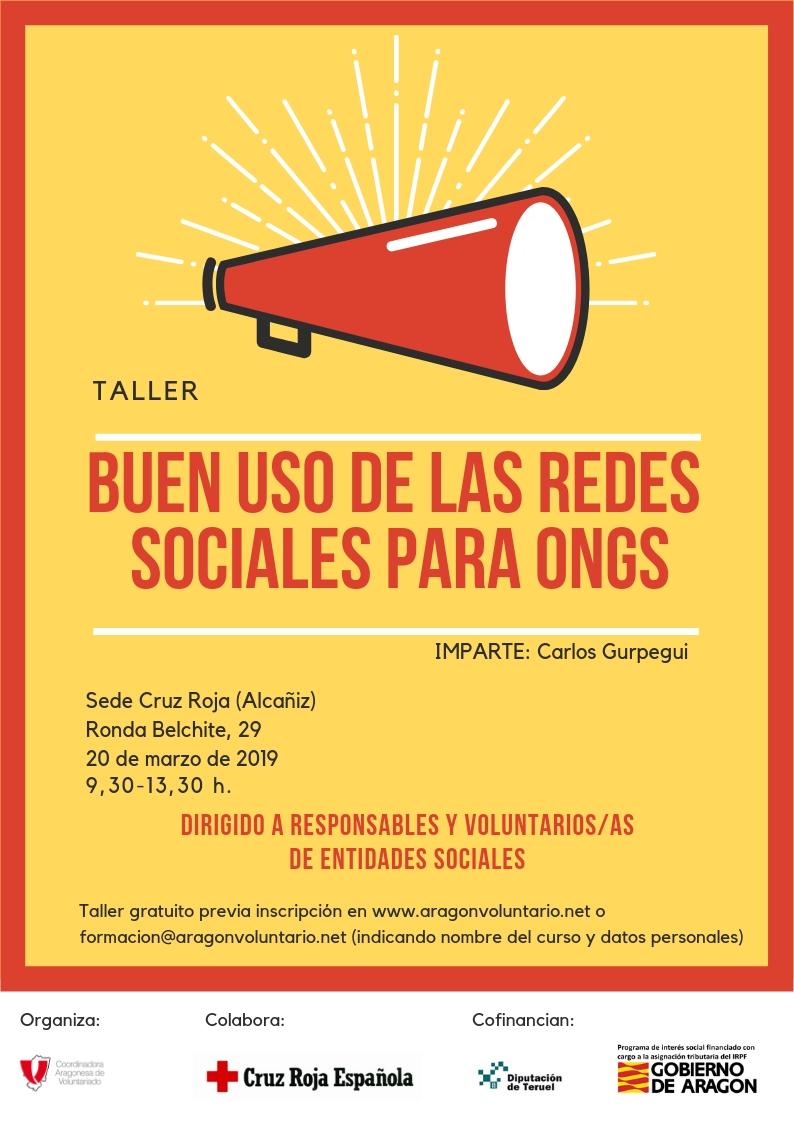 Apúntate a nuestro taller de Buenas Prácticas en el Uso de Redes Sociales en Alcañiz