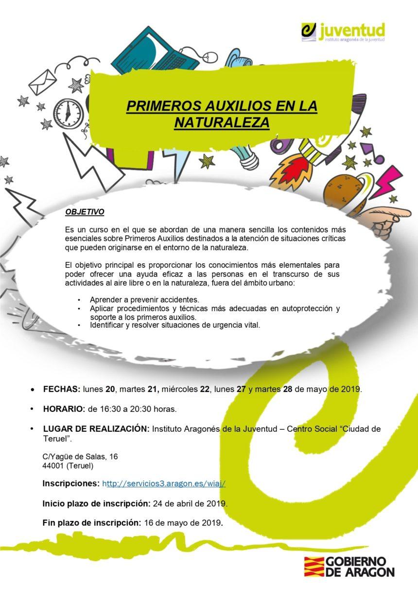 """Curso """"Primeros Auxilios en la naturaleza"""" en Teruel"""