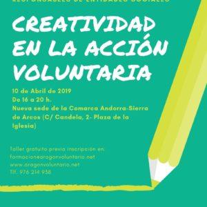 Taller de Creatividad en la acción voluntaria en Andorra