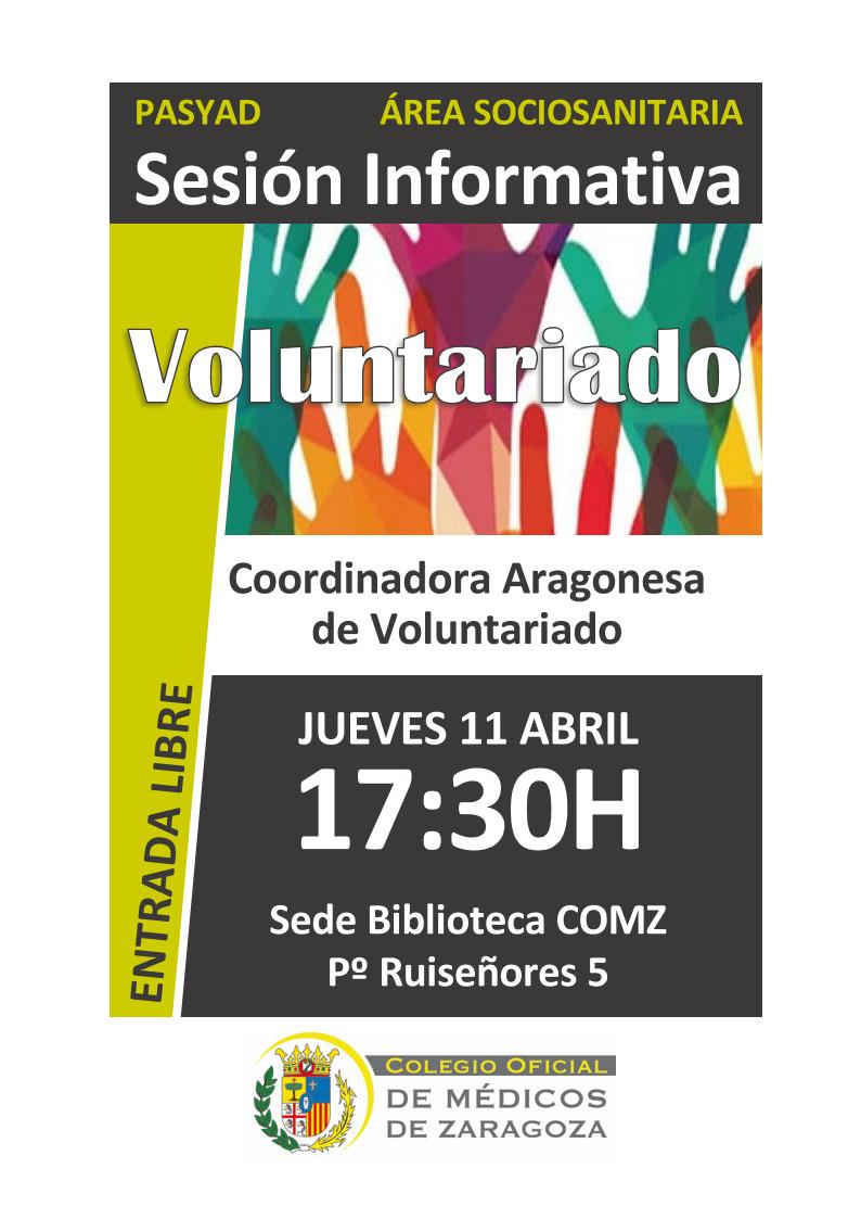 Charla sobre voluntariado en el Colegio de Médicos de Zaragoza