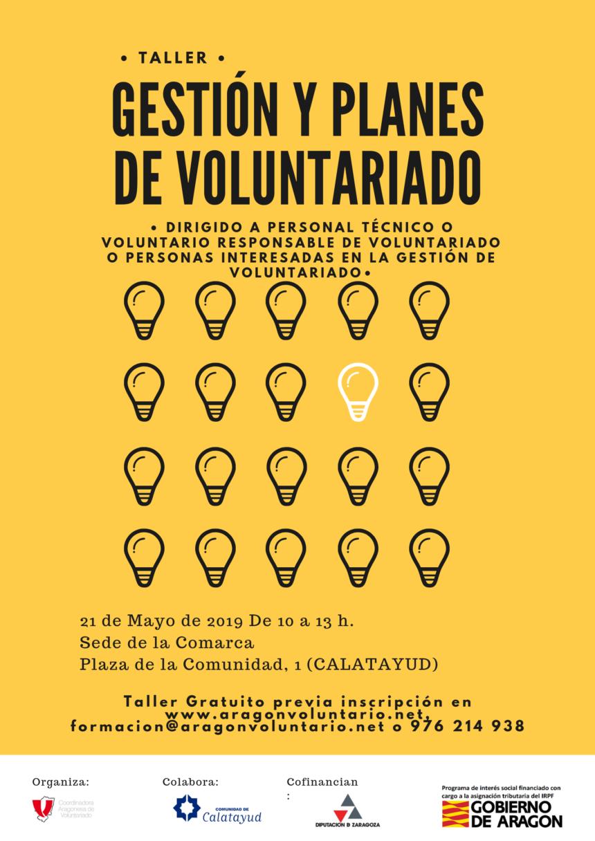 Taller de Gestión de Voluntariado en Calatayud