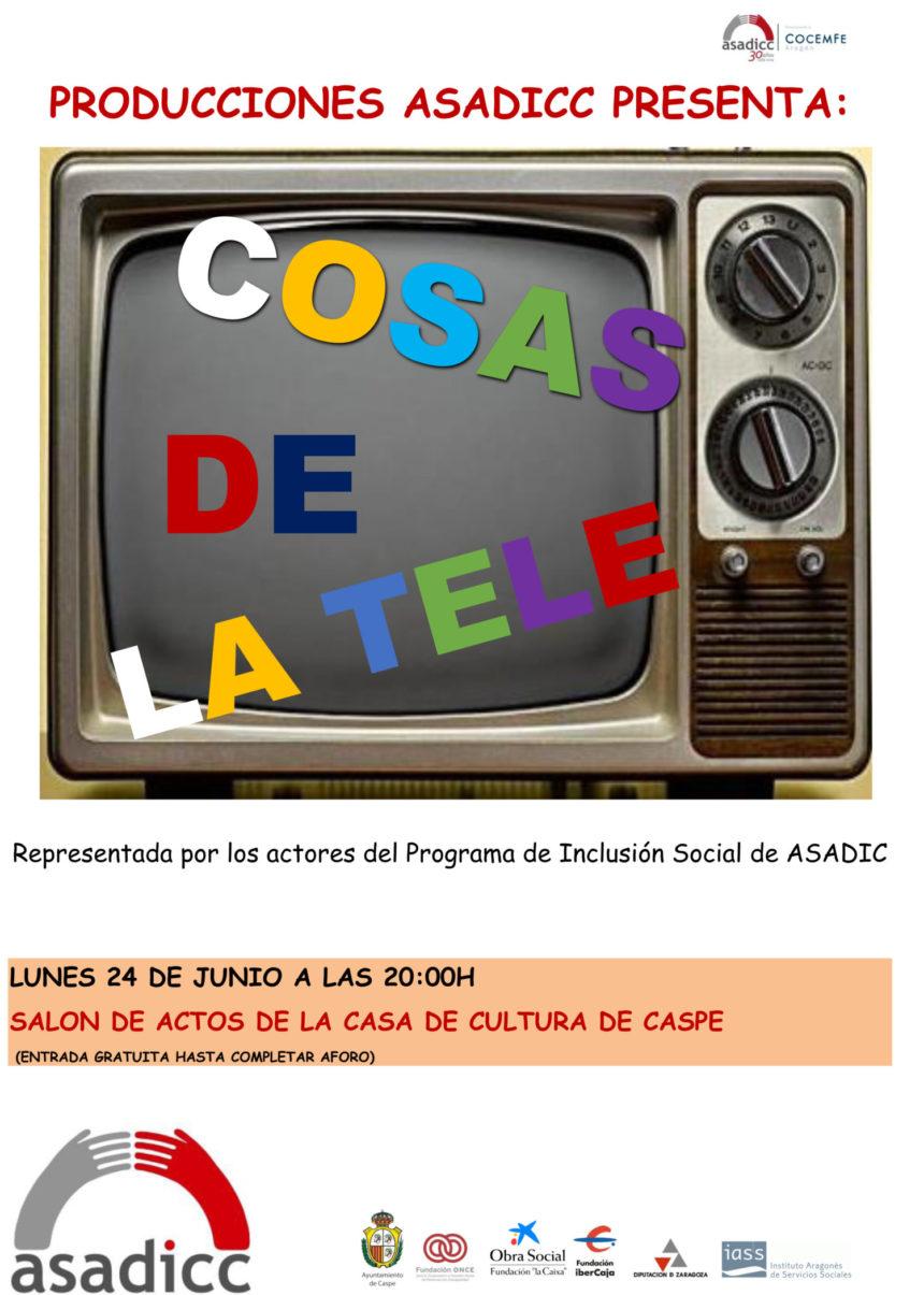 """Asadicc celebra el final de curso con la obra teatral """"Cosas de la tele"""""""
