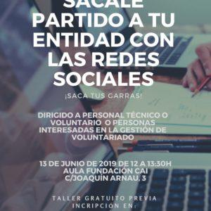"""Taller """"Sácale partido a tus redes sociales"""" para entidades en Teruel"""