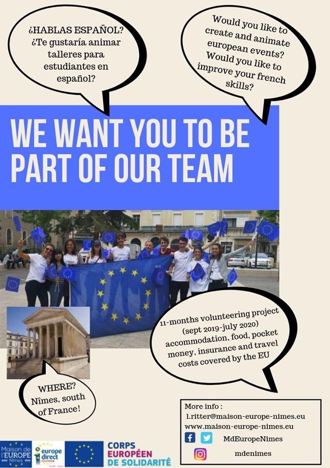 ¿Quieres participar en proyectos de voluntariado europeo? Aquí tenemos varias ofertas