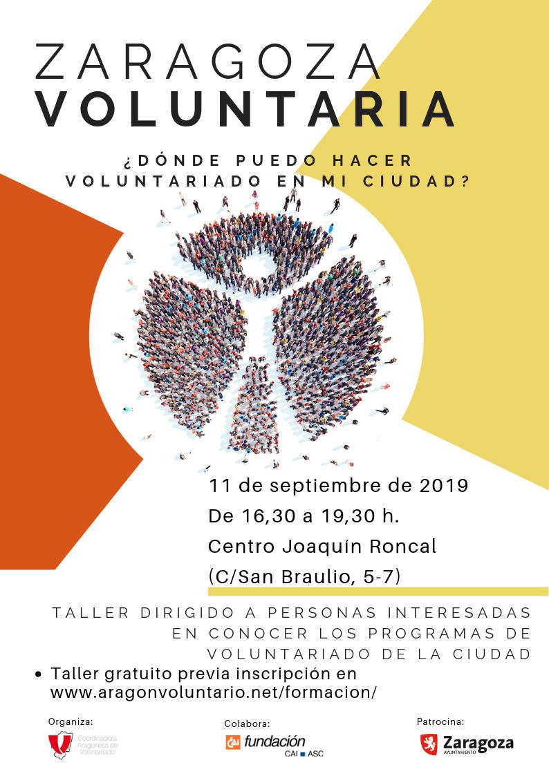 ¿Quieres hacer voluntariado? El 11 de septiembre más de diez entidades presentan sus ofertas
