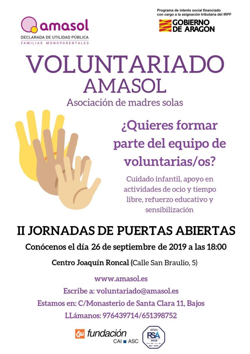 Jornada de puertas abiertas de voluntariado de Amasol