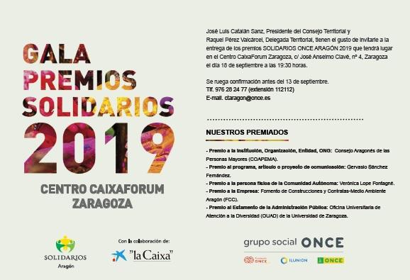 ONCE entrega sus Premios Solidarios 2019