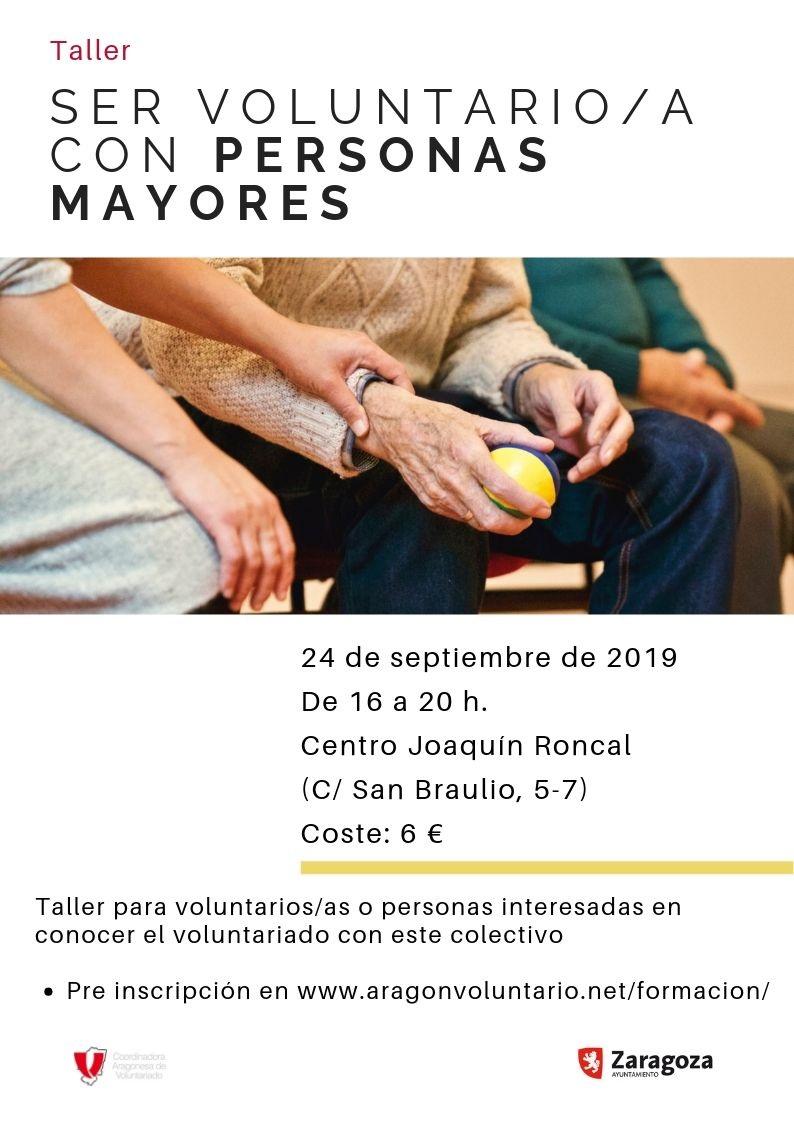 """Apúntate a nuestros talleres """"Voluntariado y Salud Mental"""" y """"Voluntariado con Personas Mayores"""""""