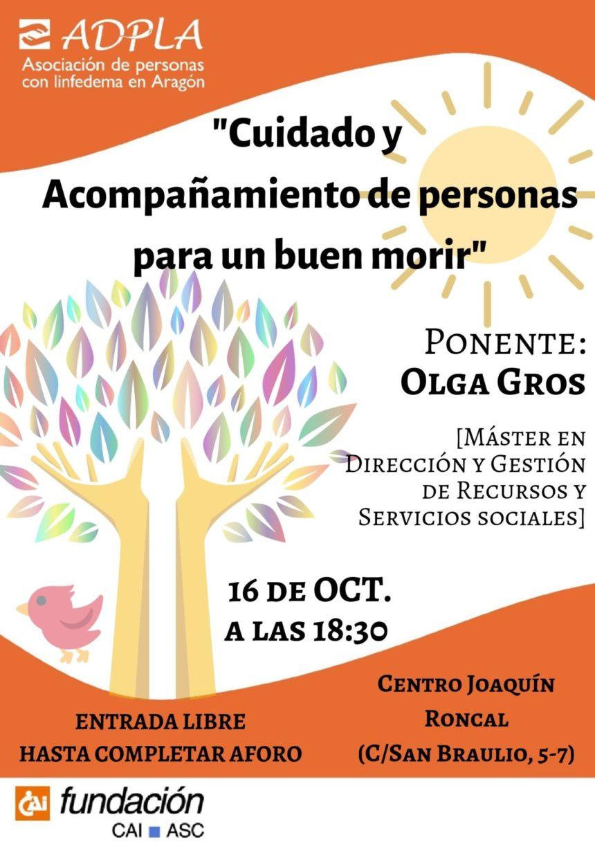 """ADPLA organiza la charla """"Cuidado y acompañamiento de personas para un buen morir"""""""