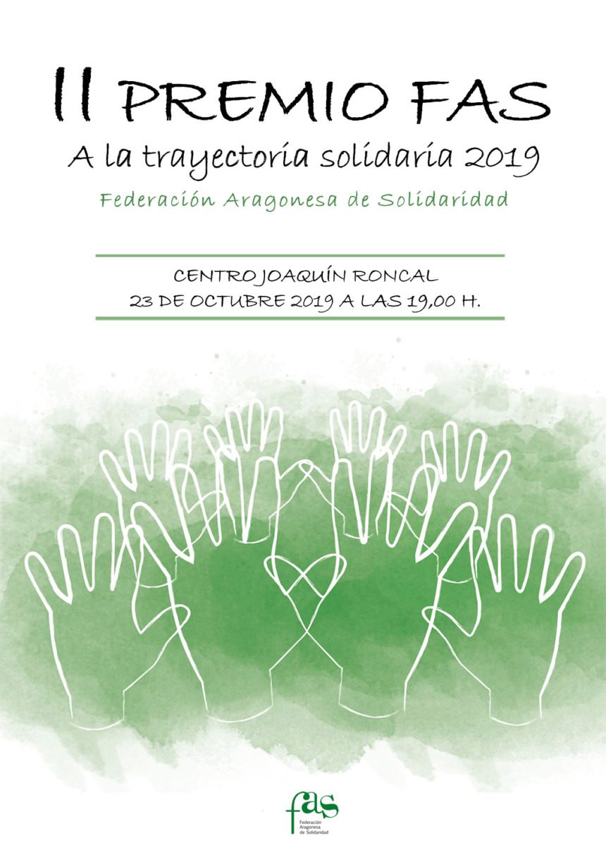 La FAS reconoce la trayectoria solidaria en Aragón