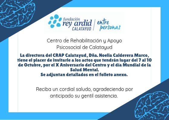 El CRAP de Rey Ardid en Calatayud celebra su X Aniversario