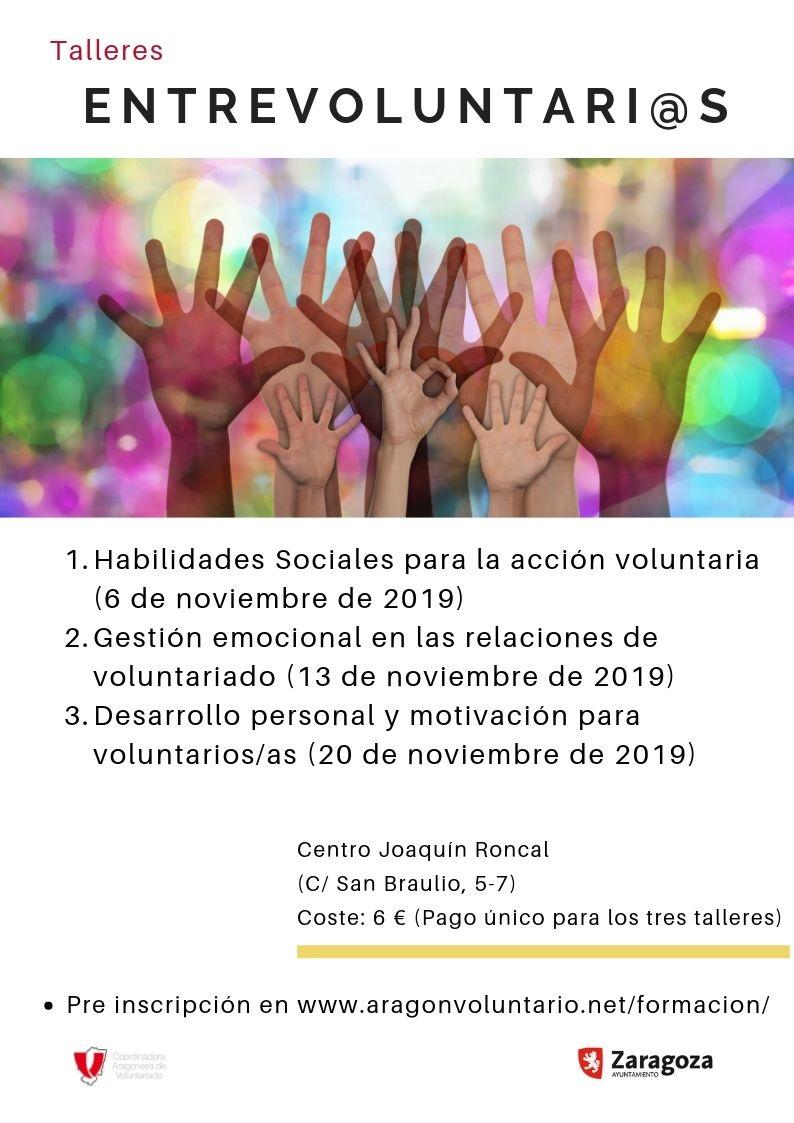 ¡Apúntate al taller Gestión emocional en las relaciones de voluntariado!