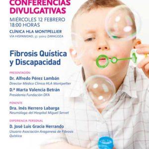 DFA organiza la segunda charla del Ciclo de Conferencias Divulgativas 2019/2020: Fibrosis Quística y Discapacidad