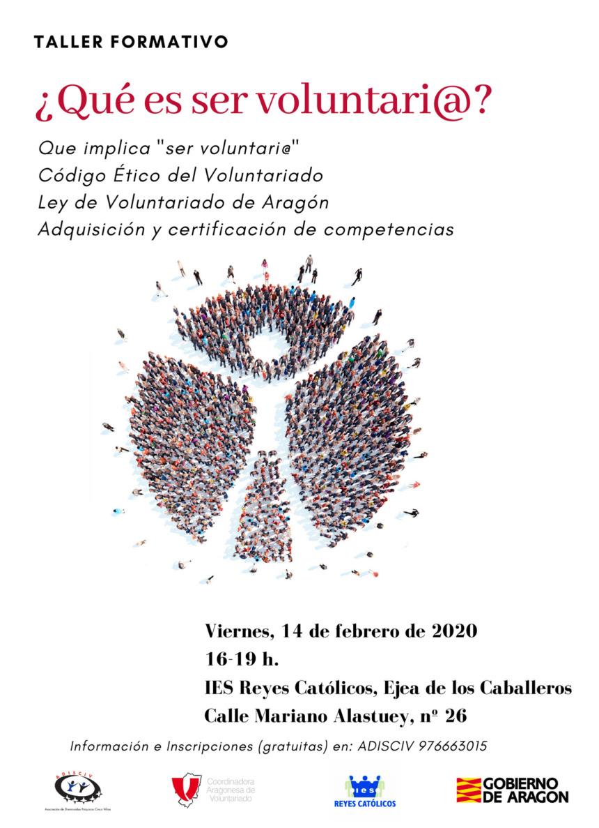 Mañana daremos toda la información sobre voluntariado en Ejea de los Caballeros