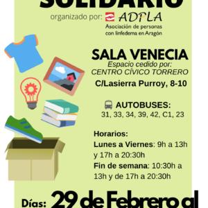 ADPLA celebra su 9º Rastrillo Solidario del 29 de febrero al 8 de marzo