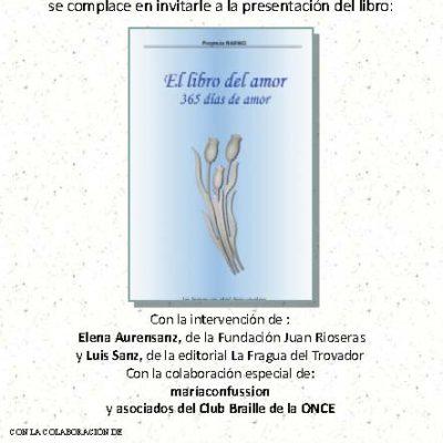 """La Fundación Juan Rioserás presenta el libro """"365 días de amor"""""""