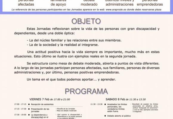 ARAPRODE organiza las Jornadas sobre Gran Discapacidad y Dependencia