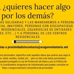 ¿Quieres mandar cartas a personas y trabajadores en residencia?