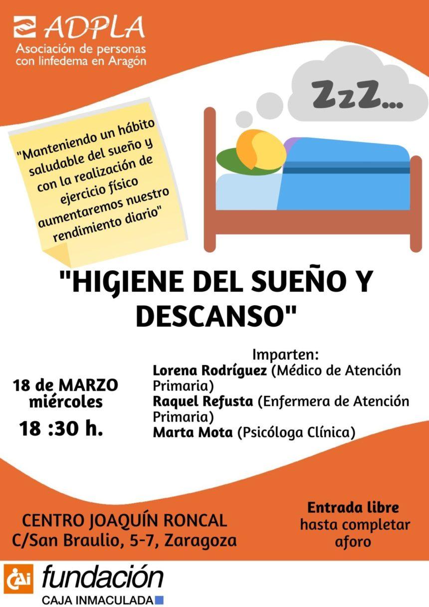 """ADPLA organiza la charla saludable """"Higiene del sueño y del descanso"""""""
