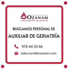 Fundación Ozanam busca auxiliares de geriatría