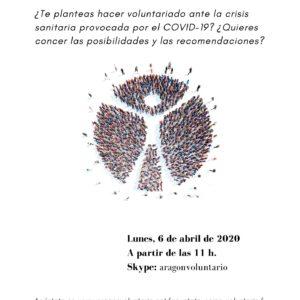 Nueva sesión informativa para conocer las posibilidades de hacer voluntariado durante la pandemia