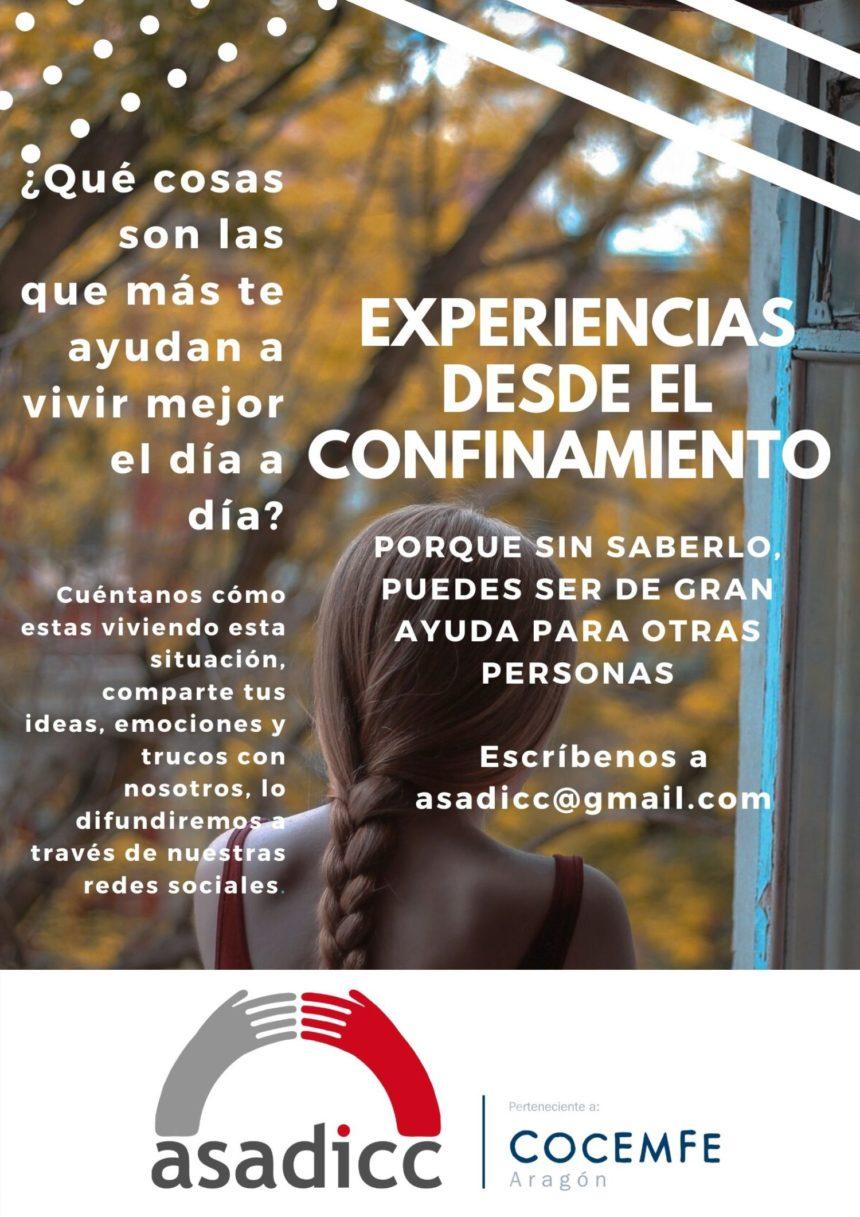 ASADICC quiere conocer experiencias de confinamiento