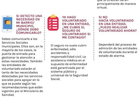 La PVE lanza varios materiales para aclarar preguntas sobre voluntariado
