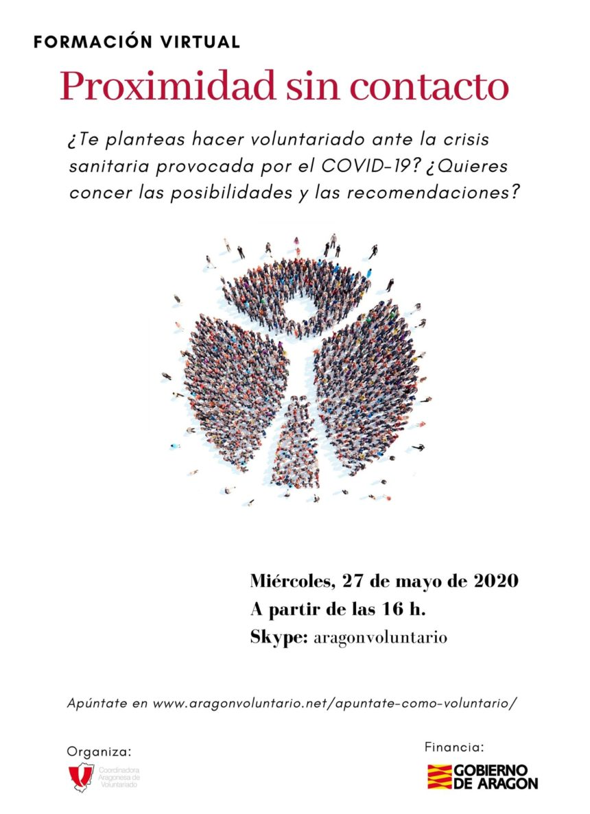 Nueva sesión informativa para conocer las posibilidades de hacer voluntariado durante la pandemia y después