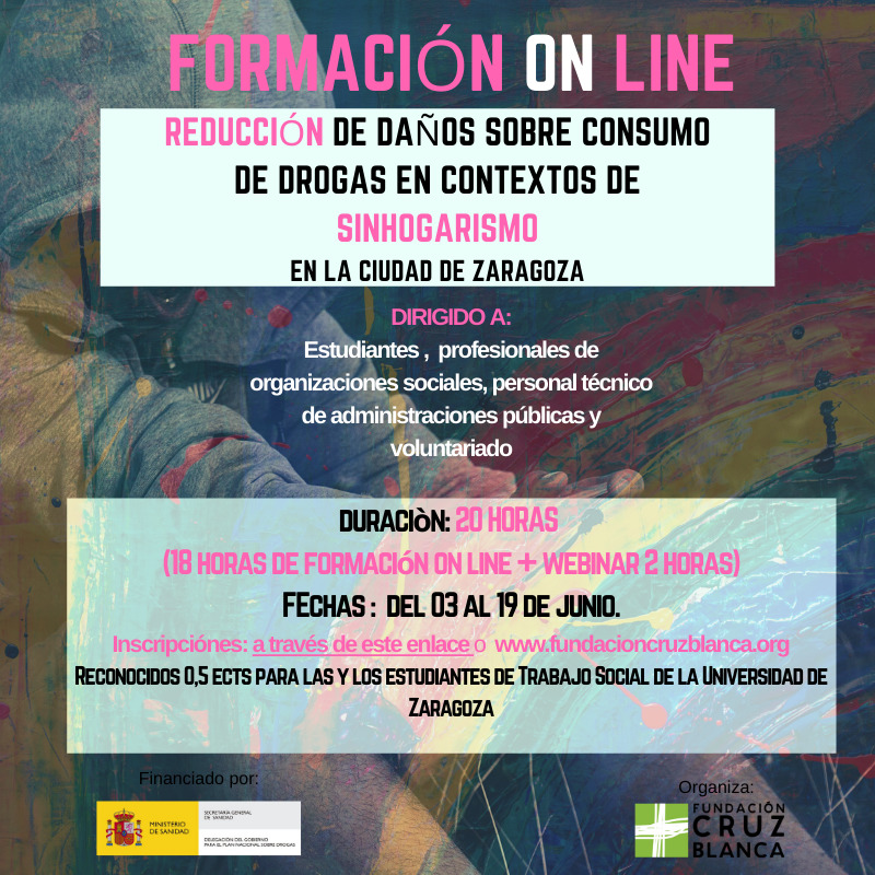 Curso de la Fundación Cruz Blanca sobre consumo de sustancias en el contexto de personas sin hogar