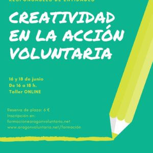 "Apúntate al taller online para voluntari@s ""Creatividad en la acción voluntaria"""
