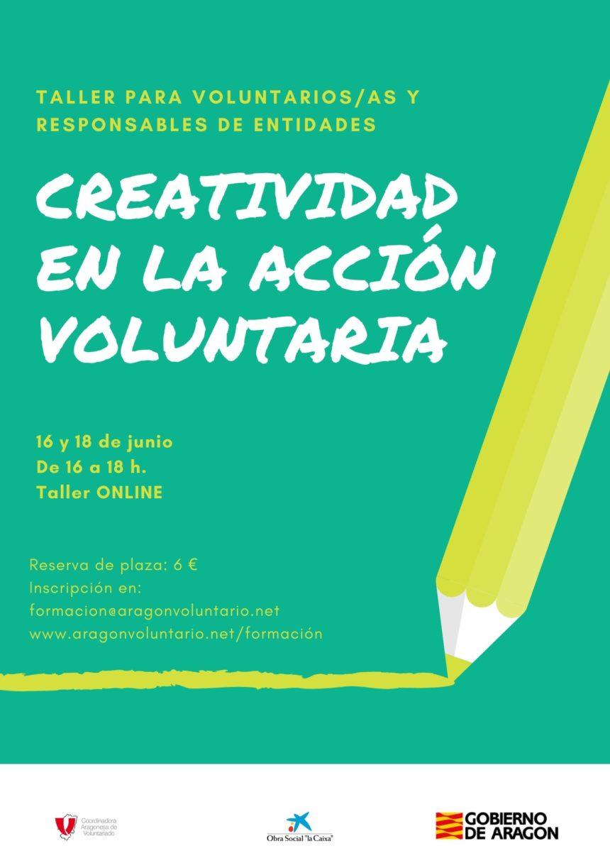 """Apúntate al taller online para voluntari@s """"Creatividad en la acción voluntaria"""""""