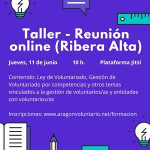 Participa en nuestras tertulias online sobre voluntariado en Ribera Alta y Calatayud