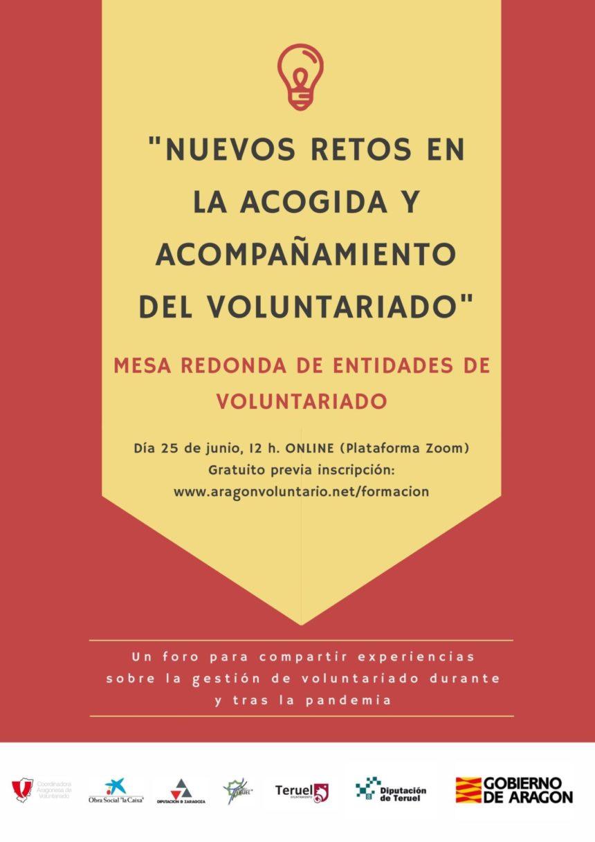 """Mesa Redonda """"Nuevos retos en la acogida y el acompañamiento del voluntariado"""""""