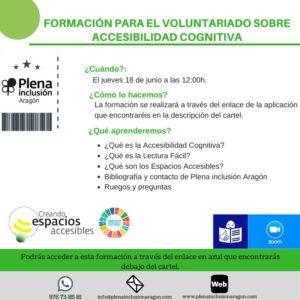 Taller sobre accesibilidad cognitiva para voluntariado de Plena Inclusión