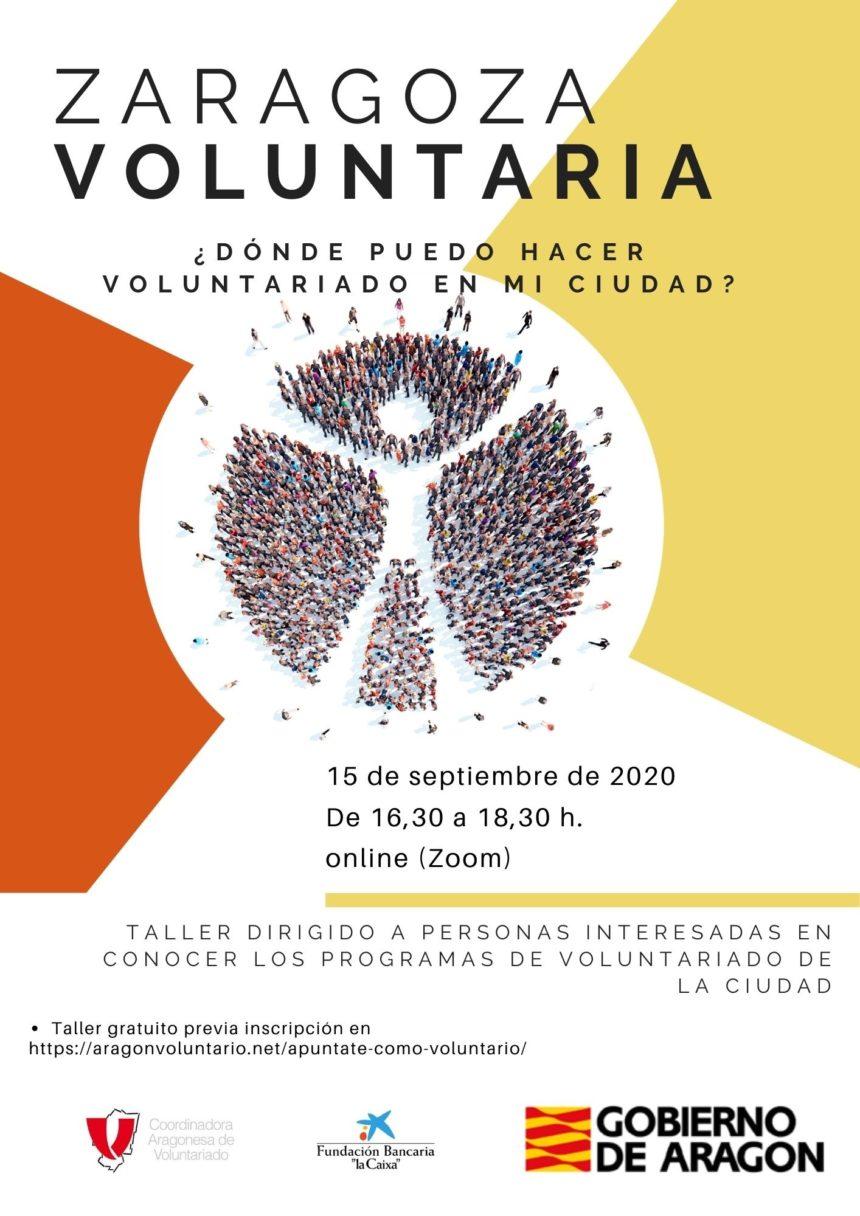 ¿Quieres ser voluntari@? El 15 de septiembre te informamos de todas las actividades en Zaragoza