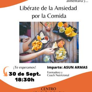 """ADPLA retoma sus charlas saludables con la ponencia """"Transforma tu Mentalidad Alimentaria y Libérate de la Ansiedad por la Comida"""""""