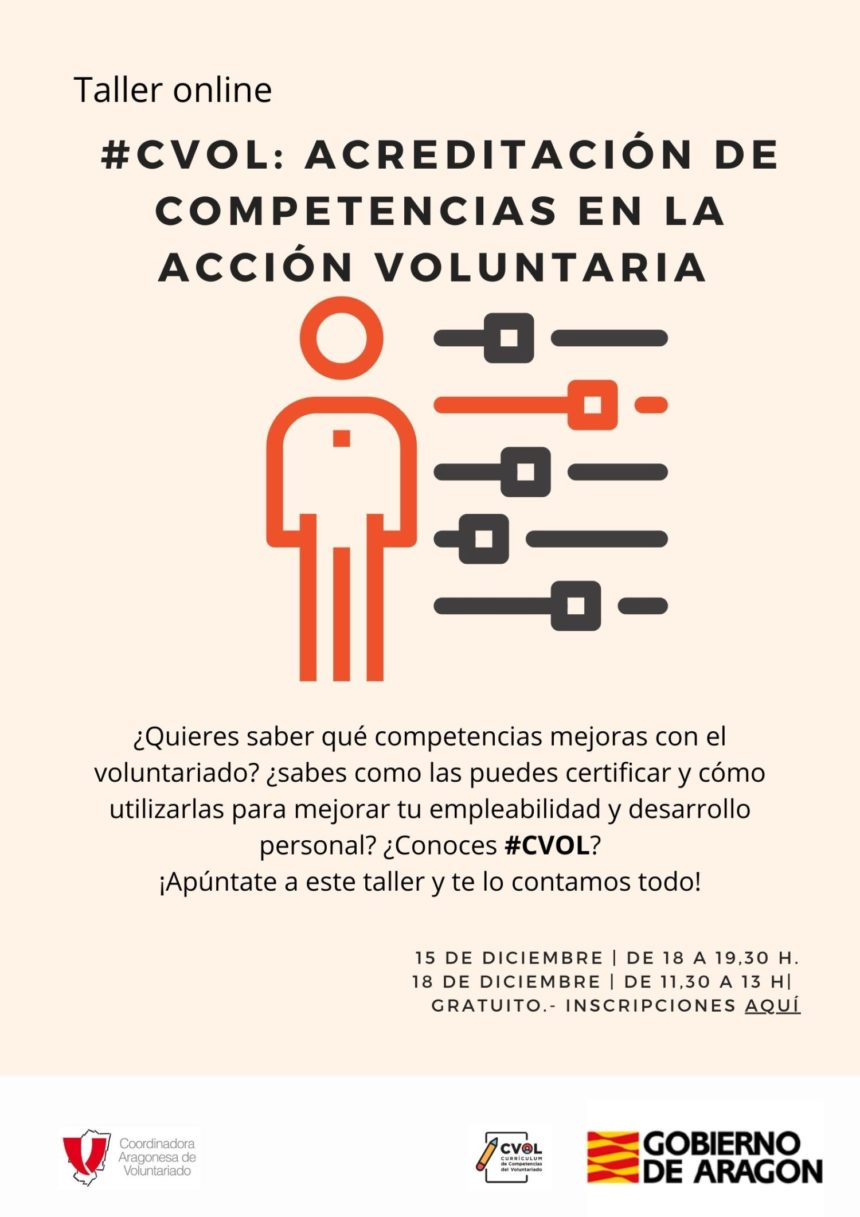 Apúntate a nuestros talleres #CVOL