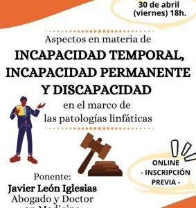 """ADPLA organiza la charla """"Aspectos en materia de incapacidad laboral y discapacidad"""""""