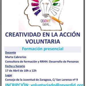 """Taller """"Creatividad en la acción voluntaria"""" de Fundación Rey Ardid"""