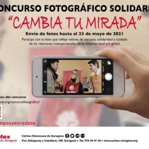 """Cáritas Zaragoza convoca el concurso fotográfico """"Cambia tu mirada"""""""