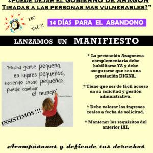 Los Trabajadores Sociales reclaman una prestación económica digna en Aragón