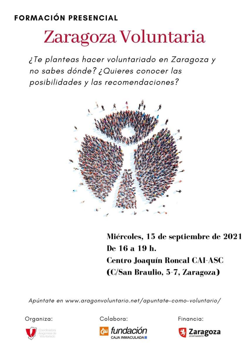 Apúntate ya al Zaragoza Voluntaria y conoce todas las ofertas de voluntariado en la ciudad