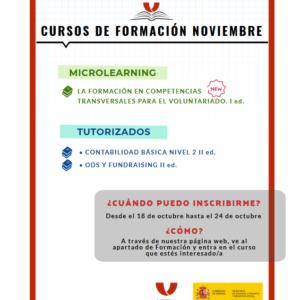 Nuevos talleres de la Plataforma de Voluntariado de España