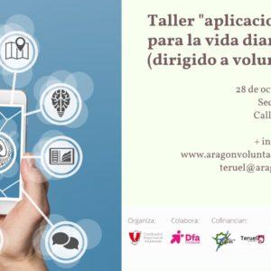 """Taller para personas voluntarias de """"Aplicaciones para la vida diaria"""" en Teruel"""